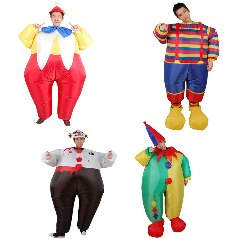 Inflatable clown Costume Party halloween costumes Christmas gift Adult inflatable costume striped clown costumes Birthday party