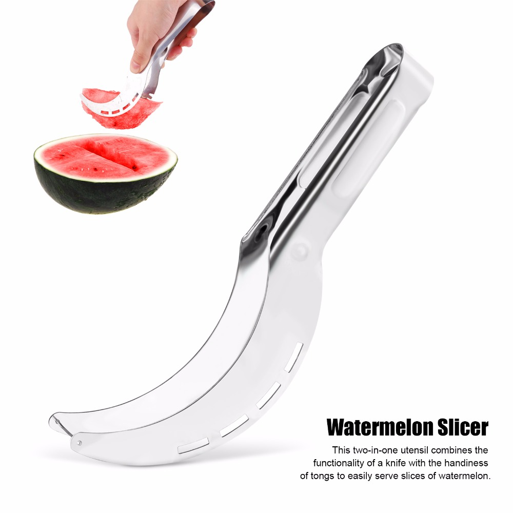 20.8*2.6*2.8CM Stainless Steel Watermelon Slicer Cutter Knife Corer Fruit Vegeta