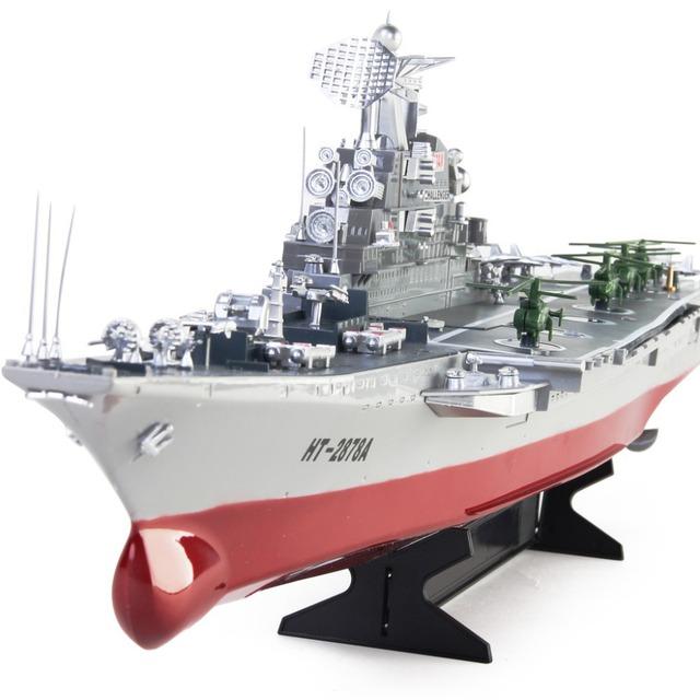 Nuevo barco de RC enorme portaaviones modelo Challenger Control remoto alta simulación juguetes buque de guerra EMS para el envío