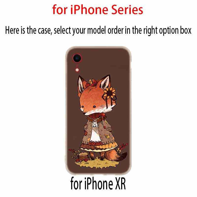מקרי טלפון סיליקון רך כיסוי עבור iPhone 11 פרו X XS Max XR 6 6S 7 8 בתוספת 5 4S SE אנימה מצחיק foxs יפה חמוד חמוד