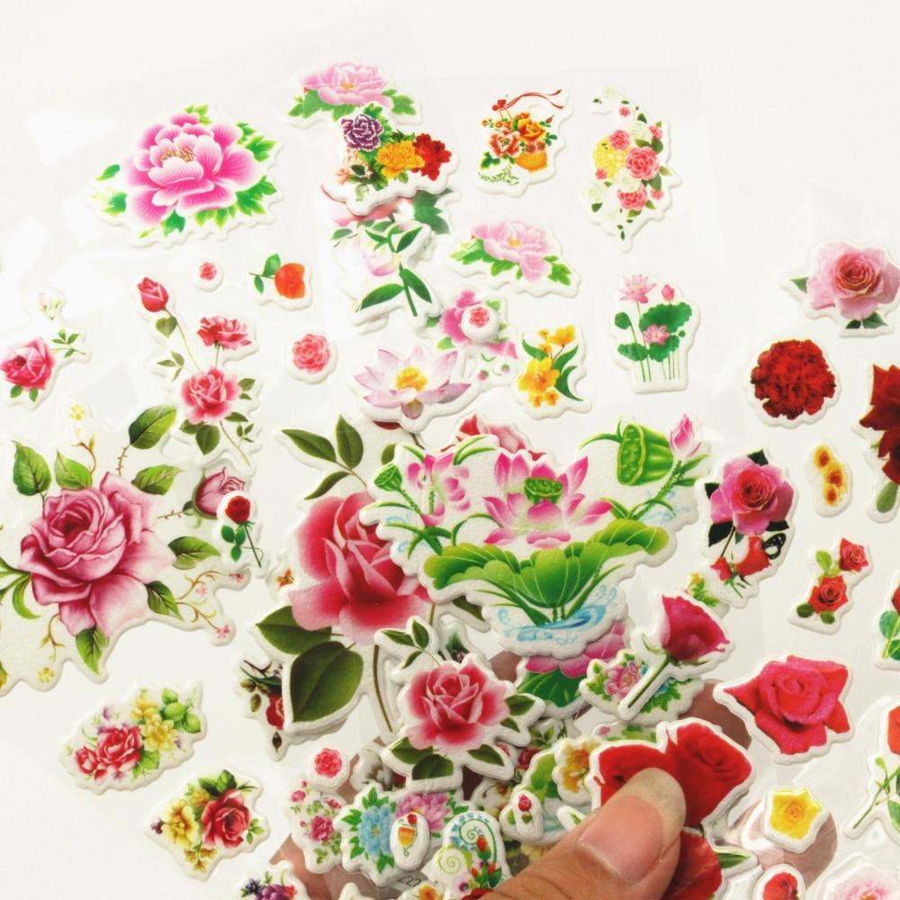 Aliexpress Buy 4 Sheetsset High Quality Beautiful Flowers
