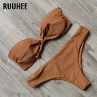 RUUHEE Brand Swimwear Swimsuit Bikini Women Bathing Suit 2017 Bikini Set Sexy Strap Brazilian Beachwear Maillot