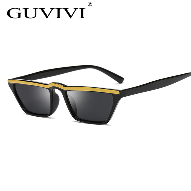 825a6c58ec New Fashion Sunglasses Women 2018 mall Rectangle Sunglasses Popular Men  Yellow Tinted Lens Glasses UV400 Eyewear Sun glasses