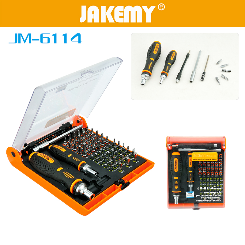 JAKEMY 73 in 1 Multi Bits with Torx Screw Tools Screwdriver Set Hex Cross Flat Y Star Screw Driver for PC Cellphone Computer repair 53 in1 cross precision star torx flat hex screwdriver tools set tweezer