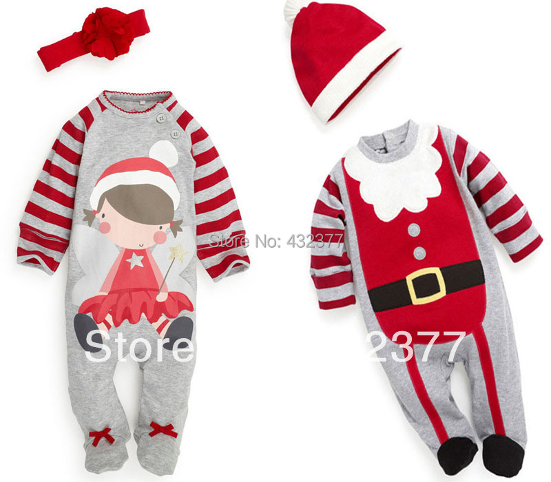 Clearance Christmas Baby Romper Toddler Kids Long Sleeve Clothes Boy