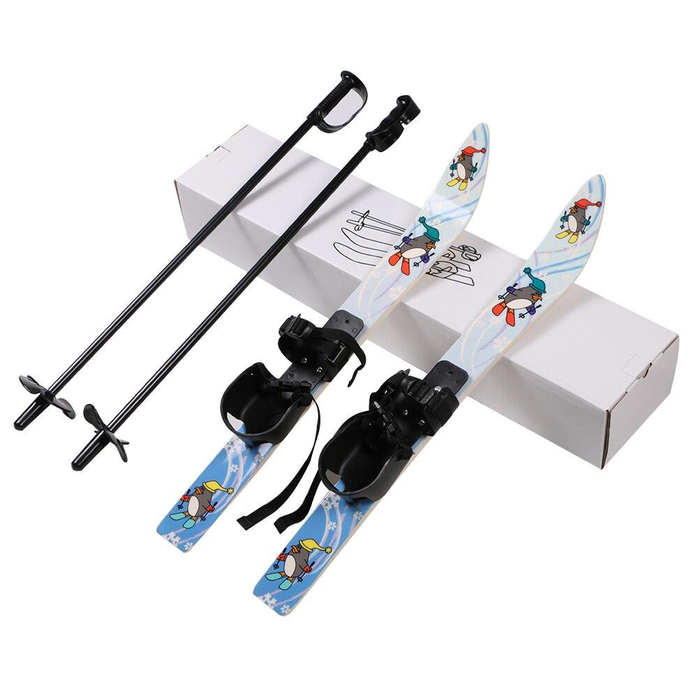 Pingouin Motif Snowboard Traîneaux Contraignant Pôle D'hiver pour Enfants 65 cm * 6 cm Enfants Skis de L'équipement pour le Ski en plein air