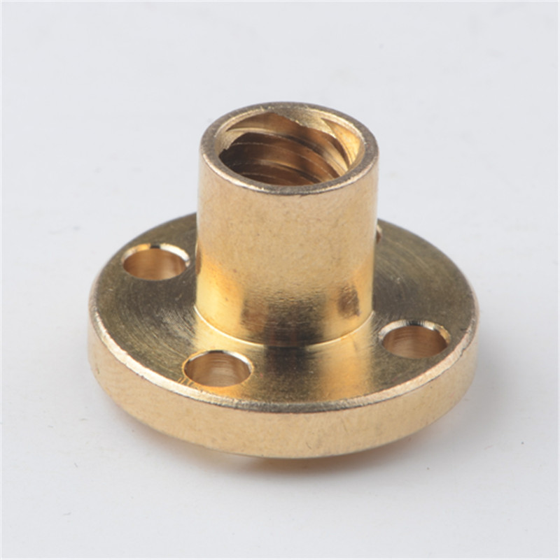 brass Nut for TR8*2,TR8*4,TR8*8 lead screw rod nut pitch 2mm TR8 Brass Trapezoidal 8mm Lead Screw nut CNC 3D printer accessorie 8