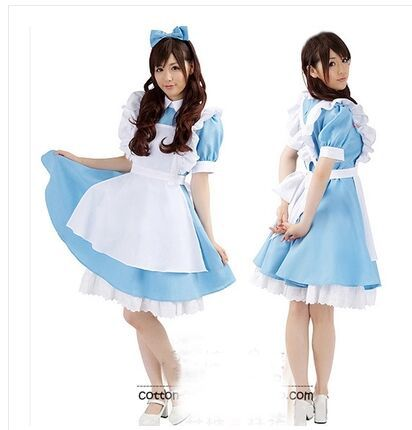 Alice in Wonderland cosplay costume Maid dress uniforms cute Halloween costumes for girls on Aliexpress.com | Alibaba Group  sc 1 st  AliExpress.com & Alice in Wonderland cosplay costume Maid dress uniforms cute ...