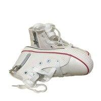 Unisex niños lona Zapatos para niños Botas Niñas azul/negro/Blanco/rojo estudiante Zapatos Niño plana Botines a11161