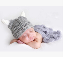Cute Handmade Knitting Character Animal Baby Hat New Born Baby Clothing Accessories Baby Photography Props Caps