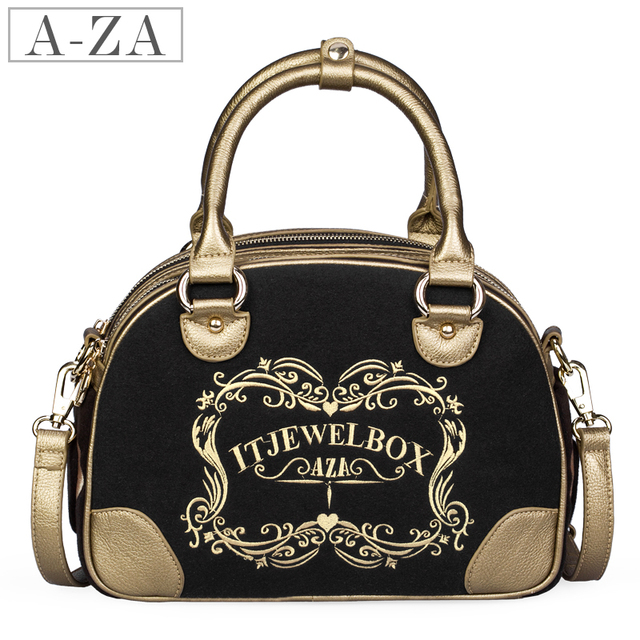 Aza 2013 women's spring fashion handbag embroidered embroidery handbag compartment messenger bag 9921