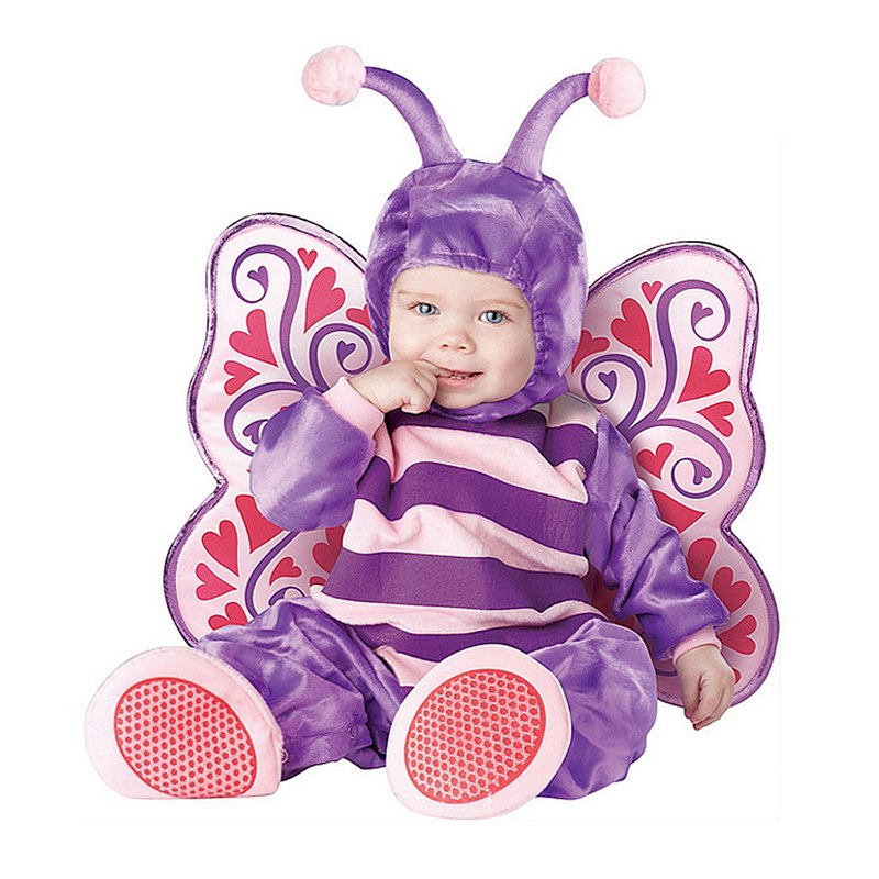 New 2018 baby Boys Girls Halloween Purple Butterfly Costume Romper Kids Clothing Set Toddler Co-splay 2016 winter new soft bottom solid color baby shoes for little boys and girls plus velvet warm baby toddler shoes free shipping