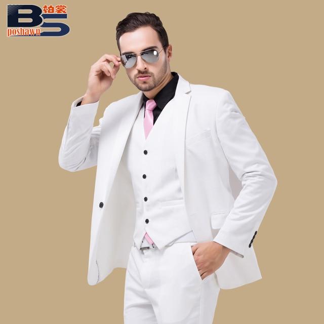 b1910be229 man suit jacket vest pants set commercial loading slim clothes married  groom wear male set formal
