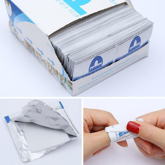 10Pcs UV Soak Off Gel Polish Remover Pads Wet Paper Nail Art Tools Eco-friendly Clean UV Gel Remover Manicure Nail Art Tool