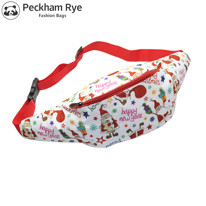 2017 New Fashion Christmas Gift Women Waist Bag Flamingo Camouflage Zebra Pattern Child Fanny Packs Travel Phone Money Belt Bag