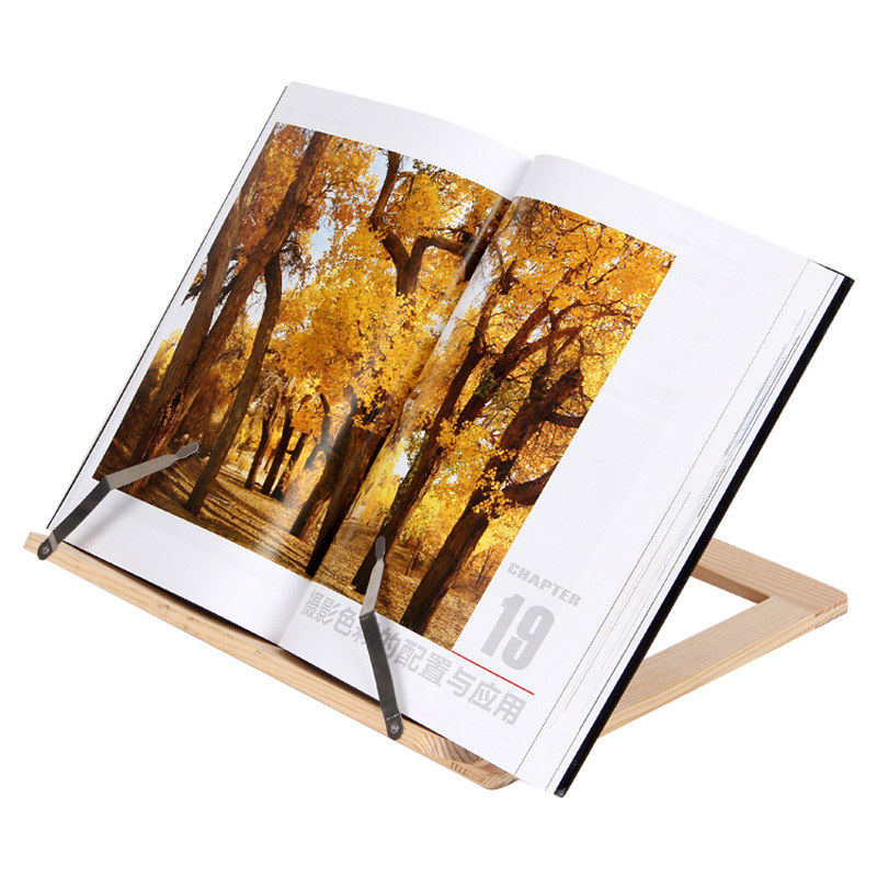 Creative Wooden Frame Reading Bookshelf Bracket Book Bookends Tablet PC Support Music Stand Wood Table Drawing Easel Stationery