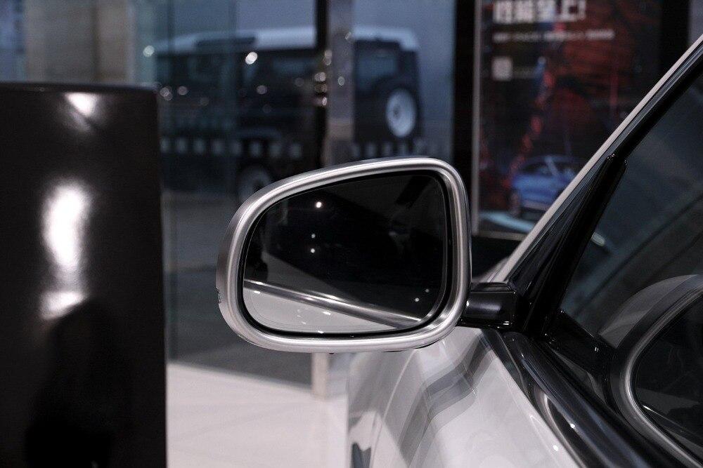 Pour Jaguar XE 15-16/XF 11-16 et XJ/XJL 10-16 voiture-style ABS Chrome voiture extérieur rétroviseur cadre garniture 2 pièces
