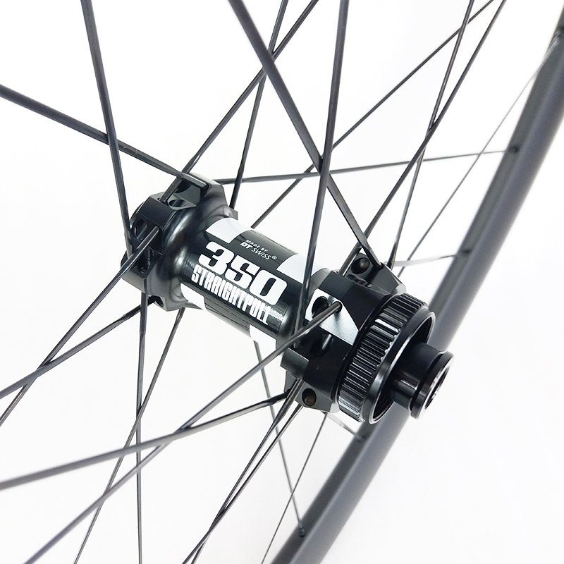 SPEEDSAFE 640g 42mm Asymmetric Clincher Tubeless Road Disc Straight Pull Center Lock Carbon Front Wheel 350S Cyclo-cross Bicycle