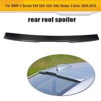 For E60 Carbon Fiber Car Roof boot lip Spoiler For BMW E60 Sedan 4 Door 2004 2010 525i 530i