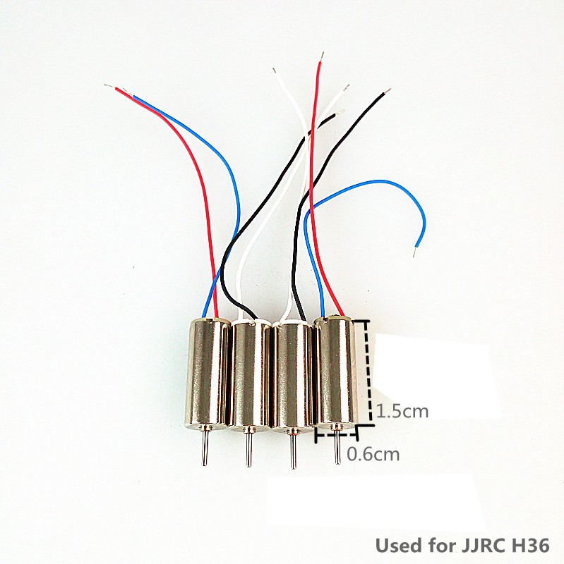 4pcs Motors For jjrc H36 Mini Drone Spare Parts 2pcs Cw 2 Pcs Ccw Motor Blade Inductrix Quadrocopter Drons Engines Kits