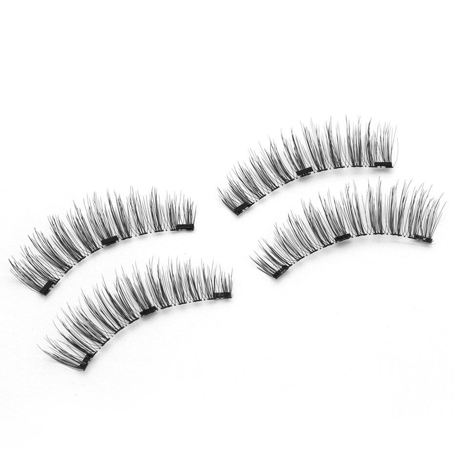 Double 3D Magnetic Eyelashes Natural Long Easy to Wear False Eyelashes Soft Hair Handmade Magnet Eyelash Extension Eye Lash Tool