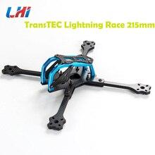2018 Newest TransTEC for Lightning Race 215mm 4mm 3K Full Carbon Fiber Frame Kit Blue / Sliver for RC Racing Racer Drone Toy DIY цена