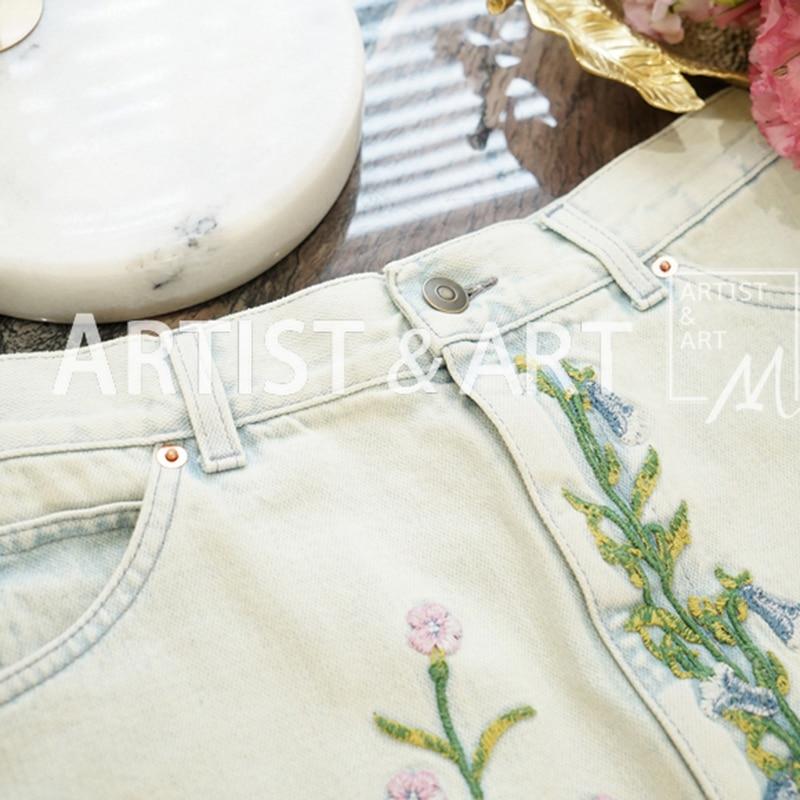 Las Multiple Mini Algodón Mujeres De Alta Calidad Verano Mujer Faldas Moda Floral 2019 Bordado Pista Primavera Svoryxiu xnqagY8n
