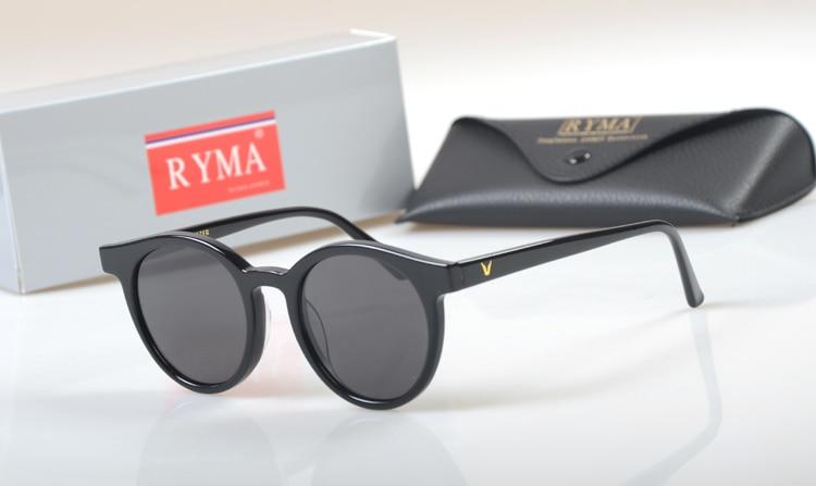 Oculos Korea Runde Acetate Frauen Blue Katze Polarisierte black beige Driving Unisex Noir Männer Steampunk Brillen Sonnenbrille Marke Shades 0In7qY