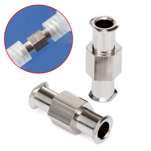 1pcs Luer Lock Adapter Coupler Nickel Plated Brass L-9Z Luer Lock Fitting Female to Female Fittings Connector with 4mm Aperture pack of 10 x metal female coupler luer tapered syringe fitting connector luer lock tapered connector