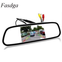 5 pollici Digitale A Colori TFT LCD Car Specchio Retrovisore Inversione del Monitor per la Macchina Fotografica di retrovisione di Parcheggio Sistema di Assistenza