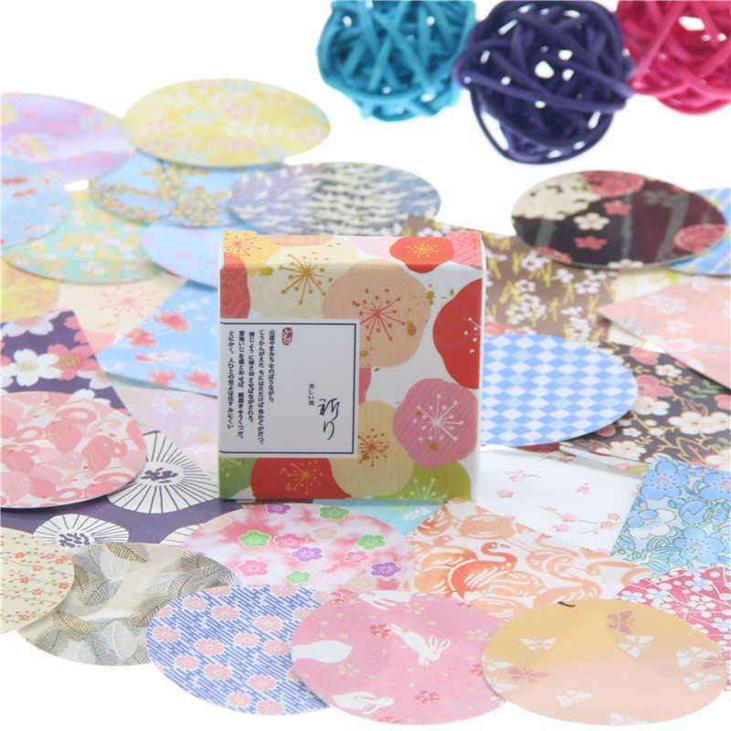 40 sztuk/pudło MISS TIME kolorowe papierowe kwiaty dekoracja naklejki DIY pamiętnik scrapbooking pieczęć do naklejenia papeterii