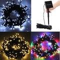 12 м 100 LED Солнечная энергия Сказочный свет гирлянда лампа для вечеринки Рождественский Декор садовая наружная декоративная лампа гирлянда