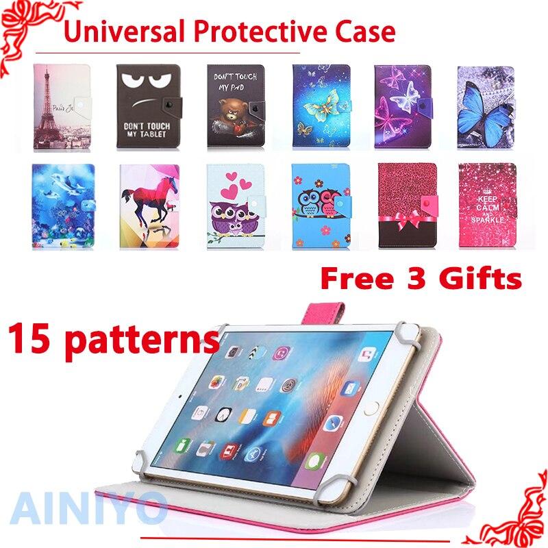 Universal Cover case for Prestigio MUZE 3708/3718 3G/WIZE 3418/3518 4G 8 inch Tablet Cartoon Printed PU Leather Case +gift планшет prestigio wize 3518 4g pmt3518
