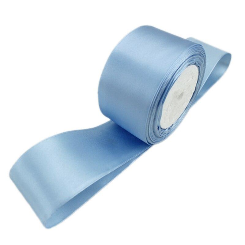 (25 ярдов/рулон) 2 »(50 мм) бирюзовый синий одно лицо атласной лентой лямки decaration подарок на Рождество лентами