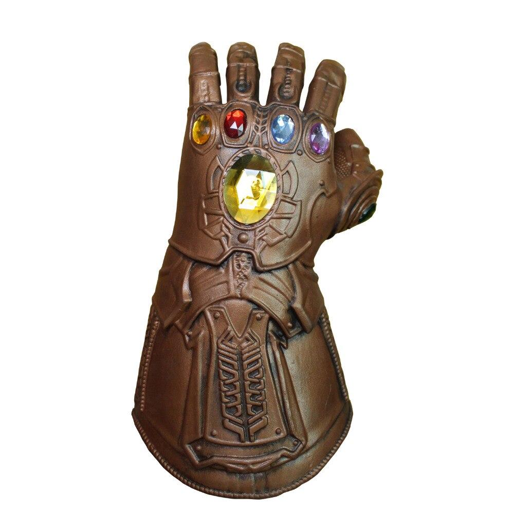 Ragazzo Thanos Mask Infinity Gauntlet Avengerss Infinity Guerra Guanti Cosplay di Supereroi Vendicatori Thanos Guanto Puntelli Del Partito di Halloween