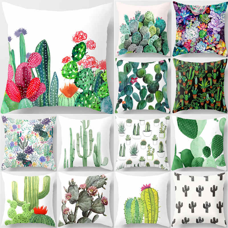 Federe Per Cuscini Arredo.Cactus Succulente Piante Stampati Fodere Per Cuscini Poliestere