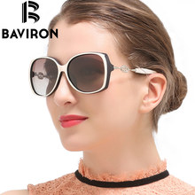 BAVIRON Luxury Sunglasses Women Ring Butterfly Gradient Sunglasses Stylish Fashion Polarized Glasses Oval UV400 Top Quality 8804