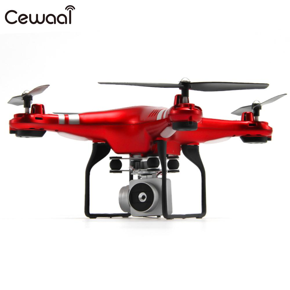 Wide angle HD 720p 2.0MP Camera Quadcopter One Key Take Off UAV Speed Adjustable WiFi High Performance APP Remote Aircraft Drone image