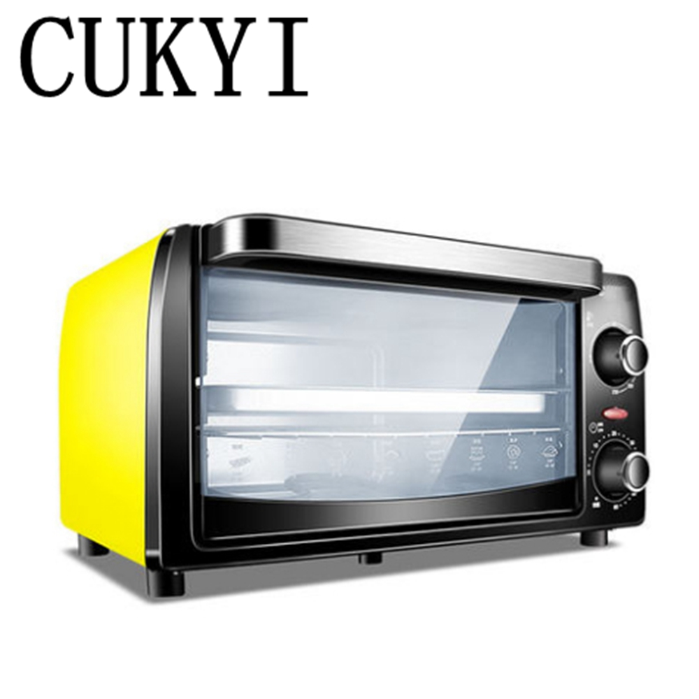 CUKYI hot sale 10L electric oven home mini oven Pizza barbecue fish biscuit cake 900w