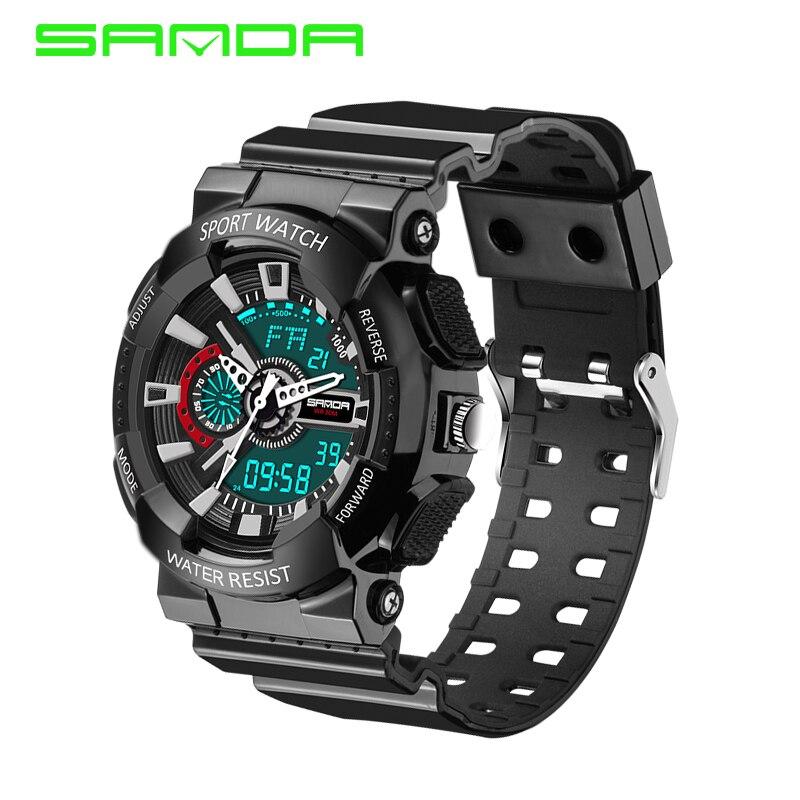 2020 nouvelle marque SANDA mode montre hommes G Style étanche sport militaire montres S choc numérique montre hommes Relogio Masculino 2