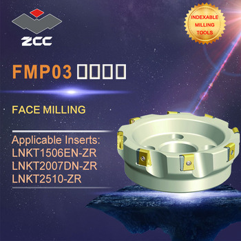ZCC.CT original face milling cutters FMP03 high performance CNC lathe tools indexable milling tools face milling tools popular cnc lathe machining center indexable square shoulder milling tools holder with high precision pe05 17b32 100 08