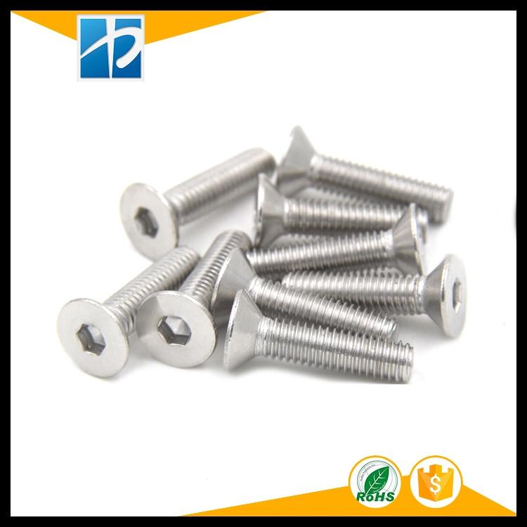 (50 pc/lot) M2,M2.5,M3,M4 *L =4~50mm DIN7991 Stainless Steel A2 Hex socket flat head countersunk toy CSK screw m3 titanium screw kit 9 size 90pcs m3 hex socket flat head screw din7991 titanium bolt super light screws 5mm 20mm