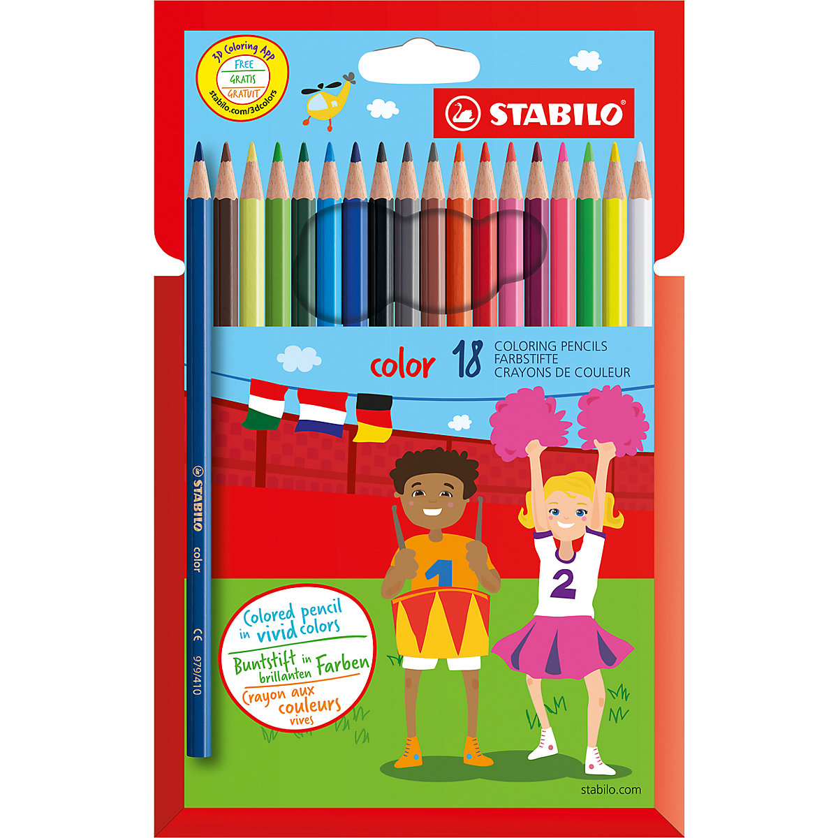 STABILO Wooden Colored Pencils 2606803 colored pencil for boys and girls children sets MTpromo
