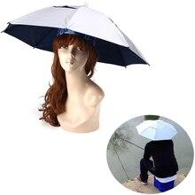Head Sun Umbrella Camping Hiking Foldable Fishing Golf Cap Headwear Hat Outdoor Supply Rain Fishing Umbrella