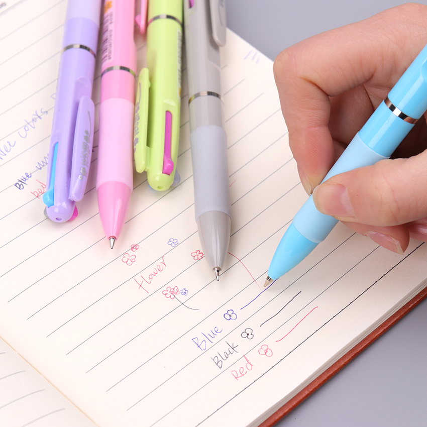 3 In 1 MultiColor Pen Creative Ballpoint Pen Colorful Ballpoint Pens Multifunction Pen For Marker Writing Stationery