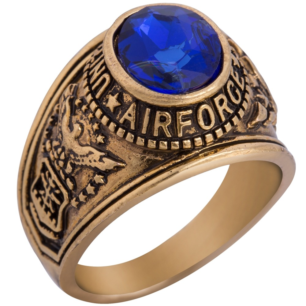 dp military marines officers jewelry ring stainless army navy veteran us amazon force air steel for com gold rings war plated