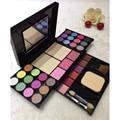 Bonitas 35 cores da paleta da Sombra de Olho conjunto de Cosméticos Blush em pó com escova sopro Mineral Shimmer eyeshadow makeup tools kit
