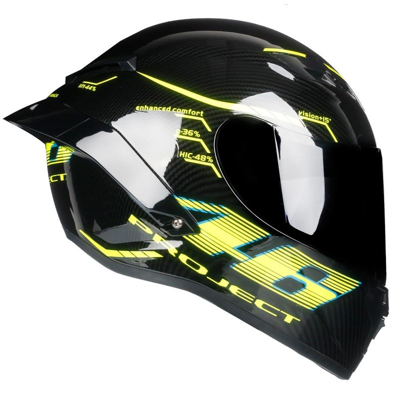 Casque intégral Casco Moto Capacete Moto Casque Racing kask Casque Moto Intégral Kask Descente DOT approuvé Tortoise46