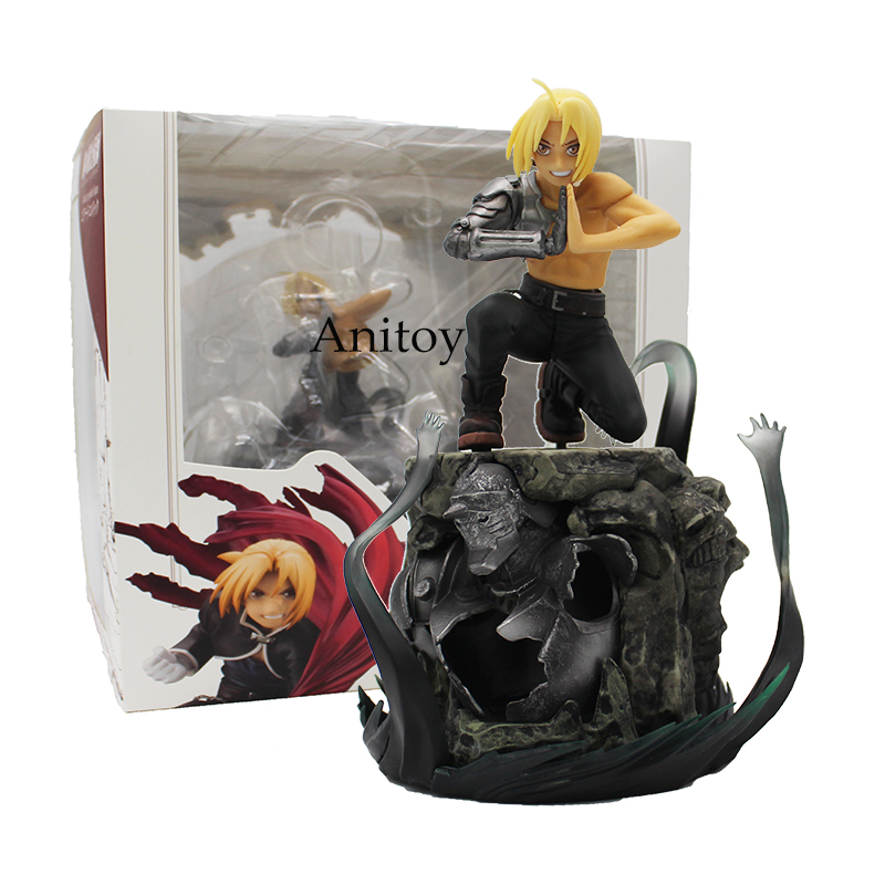 Anime Fullmetal Alchemist Edward Elric 1/8 Scale Pre-Painted PVC Figure Collectible Model Toy 21cm anime fullmetal alchemist edward elric cosplay full metal alchemist cosplay costume