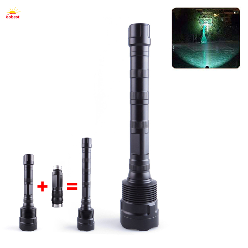 OOBEST LED Flashlights Torch 3800 Lumen T6 Zoomable Led Torch For 2x18650 or 3x18650 battery Aluminum